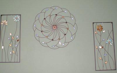 Wire Flower Wall Art