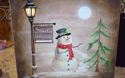 Snowman Block Print